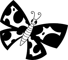 black and white spotted butterfly free clip art