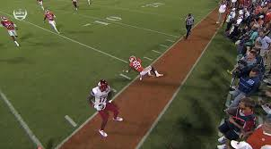 this might be why louisville u0027s wr went out of bounds a yard early