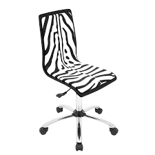 Armless Office Desk Chairs by Amazon Com Lumisource Printed Height With Swivel Adjustable