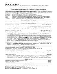 International Business Resume Sample by Border Agent Cover Letter