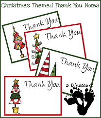 christmas thank you cards free christmas thank you notes 3 dinosaurs