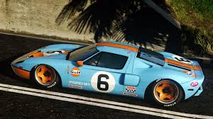gulf car ford gt 2005 gulf paintjob 2 colors for original livery gta5