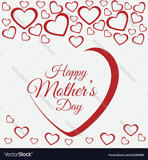 happy mothers day card design royalty free vector image