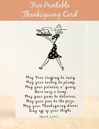 friday freebie printable thanksgiving card and thyme