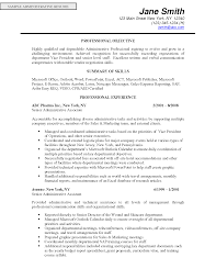 Resume Mission Statement Sales Administrative Assistant Resume Objective For Entry Level