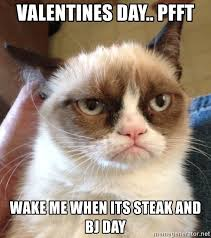 Steak And Bj Meme - valentines day pfft wake me when its steak and bj day mr angry