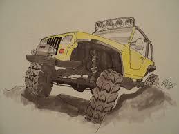 jeep rock crawler jeep yj rock crawler drawing by prestonthecarartist on deviantart