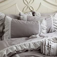 grey ruffle duvet cover king sweetgalas