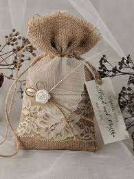Shabby Chic Wedding Gifts by Burlap Gift Bags Set Of Four White Heart 7