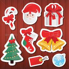 christmas stickers vector christmas stickers icons set icon set adobe illustrator