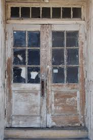 Exterior Wooden Doors For Sale Shabby Glass Front Doors With Shabby Brown Wooden Frames Of