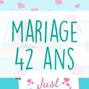 42 ans de mariage carte anniversaire mariage virtuelle gratuite à imprimer