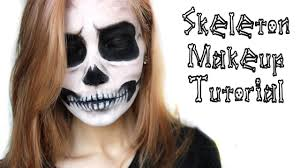 Halloween Skeleton Make Up by Skull Makeup Halloween Tutorial Ahs Tate Inspired Youtube