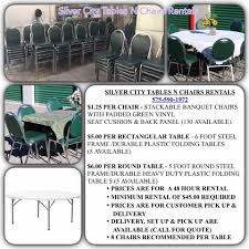 table n chair rentals silver city tables n chairs rentals home