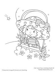 12 images of strawberry shortcake birthday coloring pages