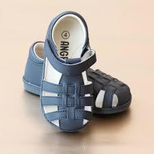 angel baby boys leather lattice fisherman sandal u2013 petit foot