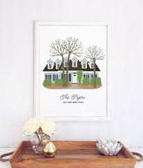 custom new home art print personalized gift miss design berry