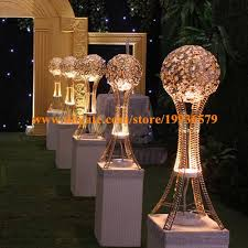 Wedding Centerpieces With Crystals by H27in Globe Stand Of Wedding Event Table Tall Centerpieces Silver