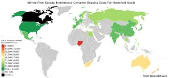 Household Goods Move Estimate by 2017 Overseas Cargo Freight Costs From Canada Moverdb Com