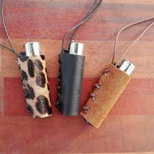 necklace holder case images Leather lighter case clipper case with sliding cord holder jpg