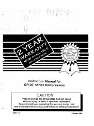 quincy qr25 compressor instruction manual gas compressor pipe