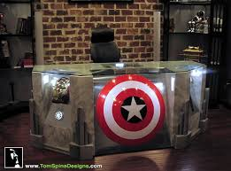 geek out your office with an avengers themed desk walyou