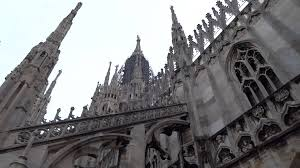 on the roof of the duomo cathedral in milan italy youtube