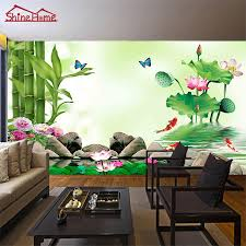 bamboo lake massage yoga spa salon wallpaper for 3d wall mural