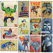 popular tin signs superhero buy cheap tin signs superhero lots