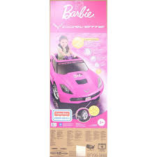 barbie corvette silver power wheels barbie corvette walmart com