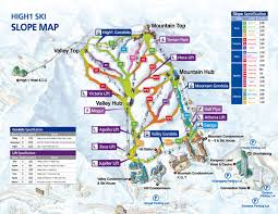 Ski Resorts In Colorado Map by High1 Piste Map High1 Ski Resort South Korea