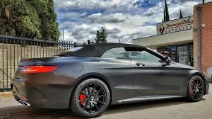 mercedes s63 amg black project 2017 mercedes s63 amg coupe convertible wrapped in