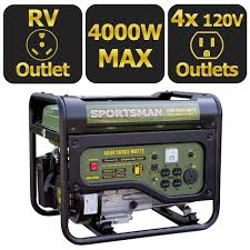 Read Write Think Generator Sportsman 4 000 Watt Gasoline Powered Portable Generator With Rv
