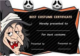 halloween costume contest certificate template halloween costume