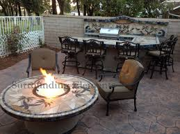 Outdoor Table With Firepit by Firepits By Surrounding Elements Backyard Patio Furniture