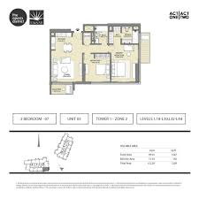 bay lake tower 2 bedroom floor plan floor plans act one act two dubai opera district downtown by emaar