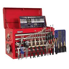 tool box sealey ap33059combo h d 5 drawer top chest tool box with 138pc tool kit