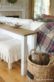Diy Mixing Desk by The Easiest Diy Reclaimed Wood Sofa Table City Farmhouse