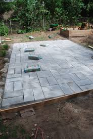 how to build a patio with pavers on concrete home outdoor decoration