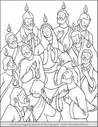 pentecost seven gifts of the holy spirit coloring page with