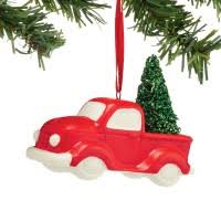 snowbabies into the woods sliding ornament set of 2