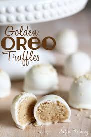 no bake golden oreo truffles chef in training