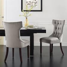 Microfiber Dining Room Chairs Shop For Avenue Greene Clairborne Taupe Tufted Dining Chair Set