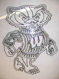 bucky badger coloring page yahoo image search results cameo