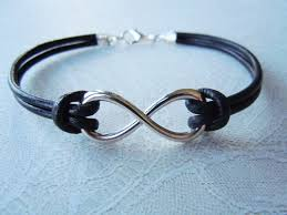 fashion infinity bracelet images Infinity bracelet friendship bracelet black leather jpg