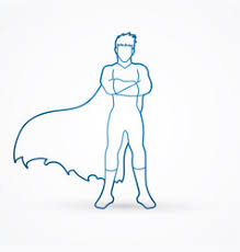 standing arms across the chest vector image