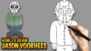how to draw jason voorhees easy step by step drawing lessons
