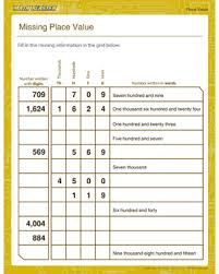 place value sheets missing place value free place value worksheets math