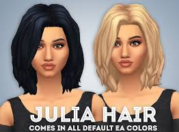 custom hair for sims 4 sims 4 hairs ivo sims julia hair
