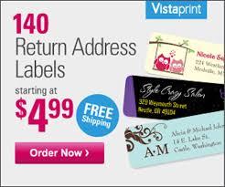 go vistaprint offer 4 99 return address labels